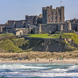 BAMBURGH-FROM-HARKNESS-ROCKS-by-Bakewell