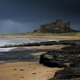 Print-HEAVY-WEATHER-AT-BAMBURGH-BEACH-by-Barry-Thomas