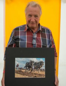 Hugh Stevenson - 3rd place winner with 'Pulling Power'