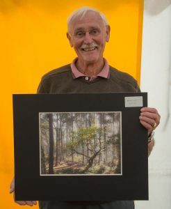 Frank Hobbs with winning image Morning Sun Hits Bradley Wood